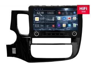 Штатная магнитола Redpower 75156 KNOB для Mitsubishi Outlander 2012+ с DSP процессором, 4G модемом и CarPlay на Android 10