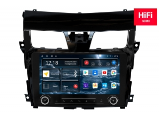 Штатная магнитола Redpower 75302 KNOB для Nissan Teana 2014-2016 с DSP процессором, 4G модемом и CarPlay на Android 10