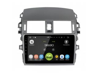 Штатная магнитола Roximo CarDroid RD-1104F для Toyota Corolla E150 с DSP процессором на Android 9