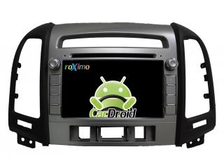 Штатная магнитола Roximo CarDroid RD-2008D для Hyundai SantaFe 2 с DSP процессором на Android 9