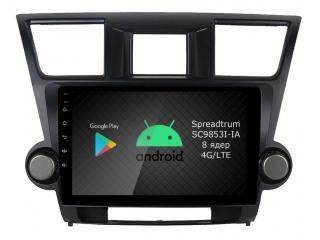 Штатная магнитола Roximo RI-1122 для Toyota Highlander 2 2007-2014 на Android 9