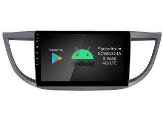 Штатная магнитола Roximo RI-1904 для Honda CR-V 4 c DSP процессором и 4G Sim на Android 9