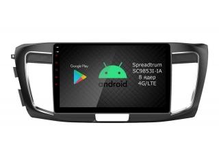 Штатная магнитола Roximo RI-1906 для Honda Accord 9 c DSP процессором и 4G Sim на Android 9