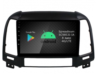 Штатная магнитола Roximo RI-2008 для Hyundai Santa Fe 2 2006-2012 c DSP процессором и 4G Sim на Android 10