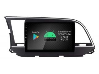 Штатная магнитола Roximo RI-2016 для Hyundai Elantra 6 2016-2019 c DSP процессором и 4G Sim на Android 10