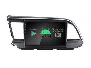 Штатная магнитола Roximo RI-2026 для Hyundai Elantra 6 2019+ c DSP процессором и 4G Sim на Android 10