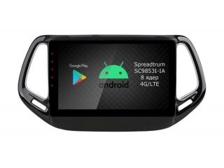 Штатная магнитола Roximo RI-2204 для Jeep Compass 2017+ c DSP процессором и 4G Sim на Android 10