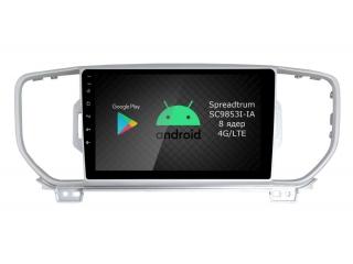 Штатная магнитола Roximo RI-2319 для Kia Sportage 2016-2018 c DSP процессором и 4G Sim на Android 10