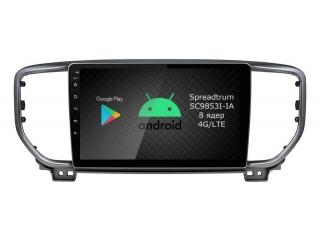 Штатная магнитола Roximo RI-2329 для Kia Sportage 4 2019+ c DSP процессором и 4G Sim на Android 9