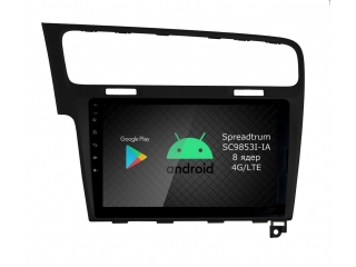 Штатная магнитола Roximo RI-3715B для Volkswagen Golf 7 black на Android 9